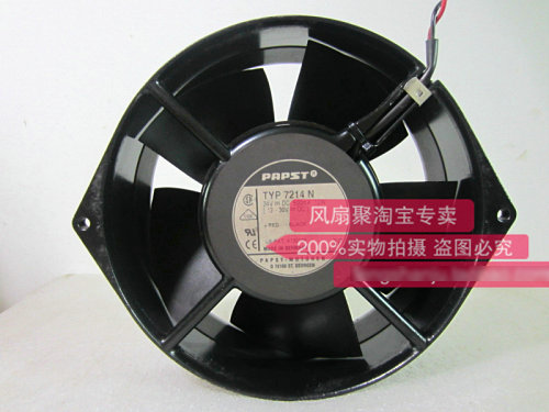Original EBM PAPST TYP7214N DC24V 12W 15CM 150*150*55MM Inverter aluminum frame cooling fan new original ebm papst w1g180 ab47 01 48v 100w 200 70mm inverter cooling fan