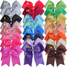 24 pcs 6 inch Bow WITH Clips leading bow Hair clip Hairpins Holiday Dancing Large hair