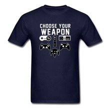Hot Sale Fashion Choose Your Weapon Gaming Console Gamer printed t shirt men t shirt casual tops