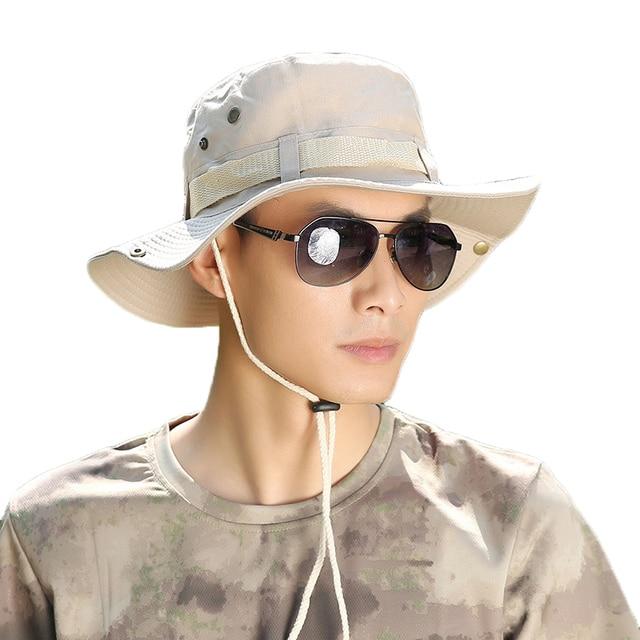 560e69871ae 2019 Fashion Men Sun Hats Fashion Summer Beach Fisherman Hats Outdoor Anti-UV  Sun Protection