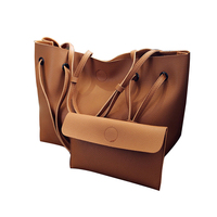 Pu Leather Shoulder Bag Large Capacity Tote Bags For Women Handbags Wallet Set Women Composite