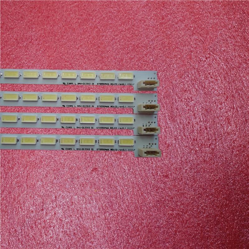 Nuevo 1 piezas 80 LED 676mm LED55X5000DE LTA550HQ22 550HQ20 HQ16 tira de LED LJ64-03515A STS550A66_80LED_rev0.1_111117 De retroiluminación LED 72 lámpara para Sony KDL-50R550A 6922L-0083A 1173A 1291A LC500EUD FF F3 F1 50