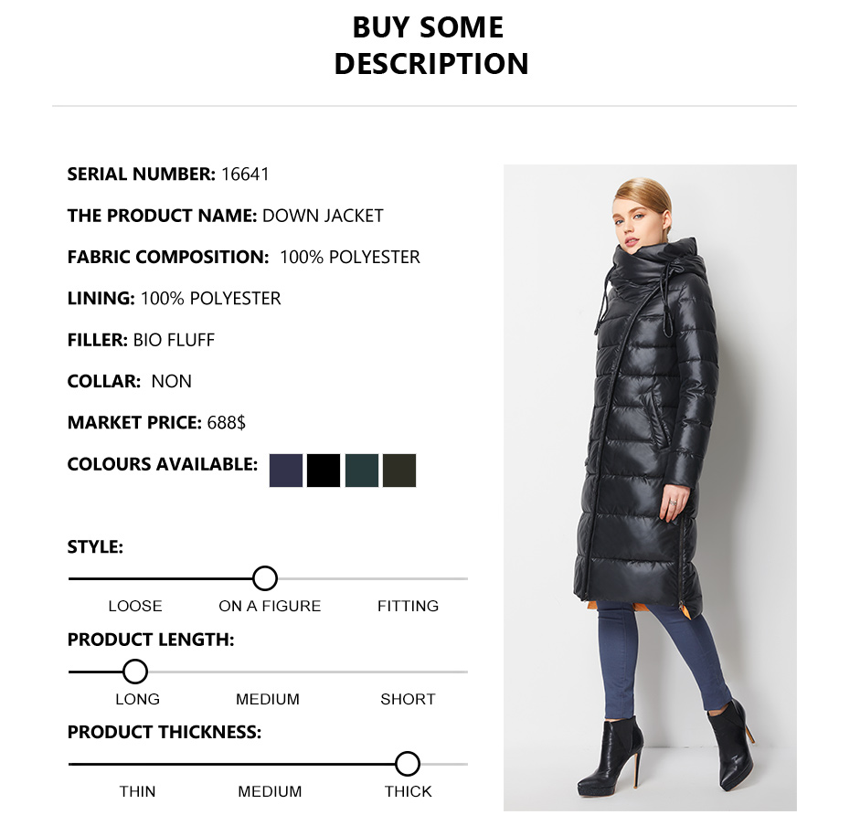 Fashionable Coat Jacket Women's Hooded Warm Parkas Bio Fluff Parka Coat High Quality Female New Winter Collection 10