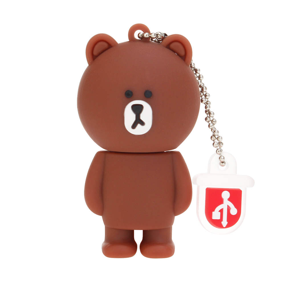 New Rilakkuma Bear pen drive 4GB 8GB 16GB 32GB 64GB 128GB usb flash drive pendrive Cartoon USB 2.0 Memory Stick Bear Brown Gifts (1)