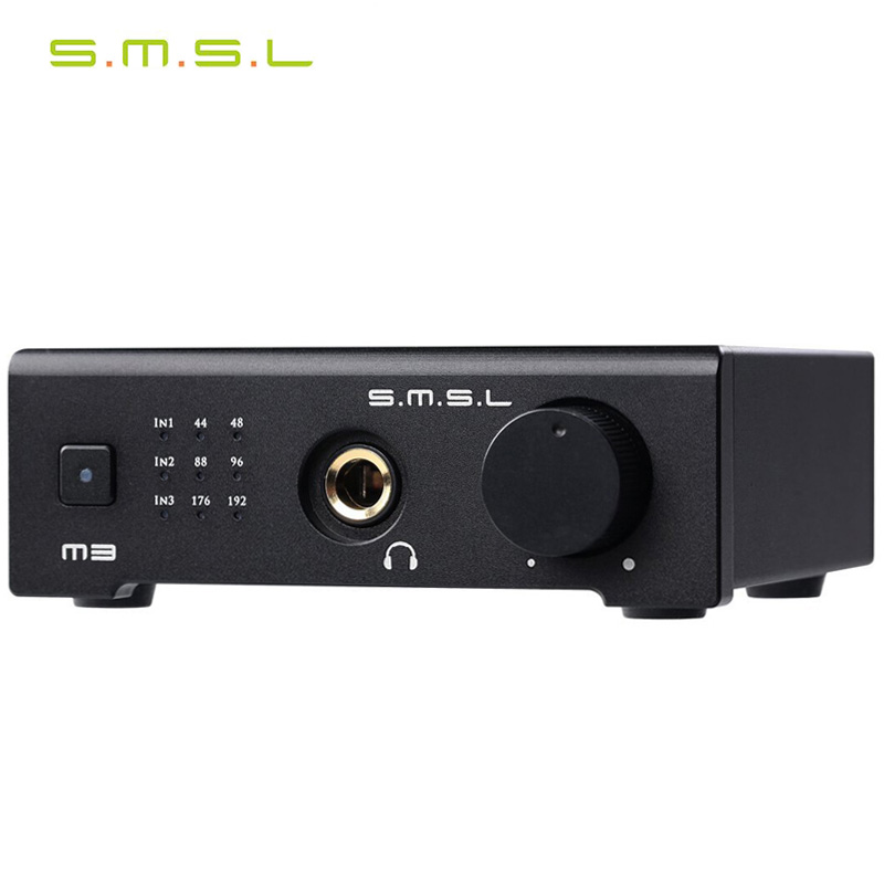 SMSL M3 USB/Optical fiber/ Coaxial Function Hi-Fi Audio Decoder All-in-one Amp all in one usb bag