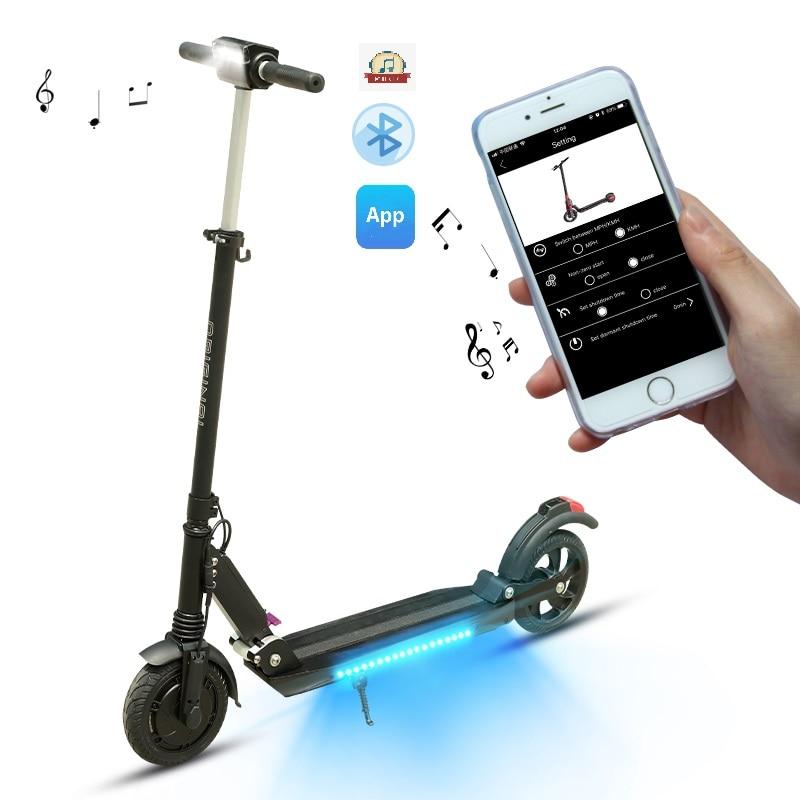 SUPERTEFF EW4 pro scooter elétrico com KUGOO-S3-Pro scooter e-com Bluetooth speaker App e flash LED de luz