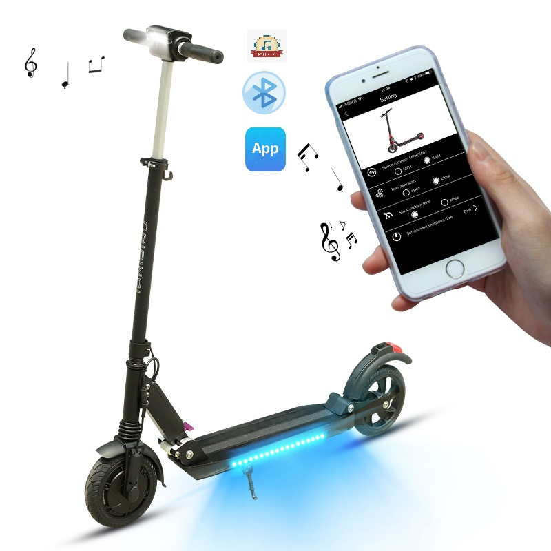 SUPERTEFF EW4 pro scooter elétrico com KUGOO-S3-Pro scooter e-com Bluetooth speaker App e flash LED de luz