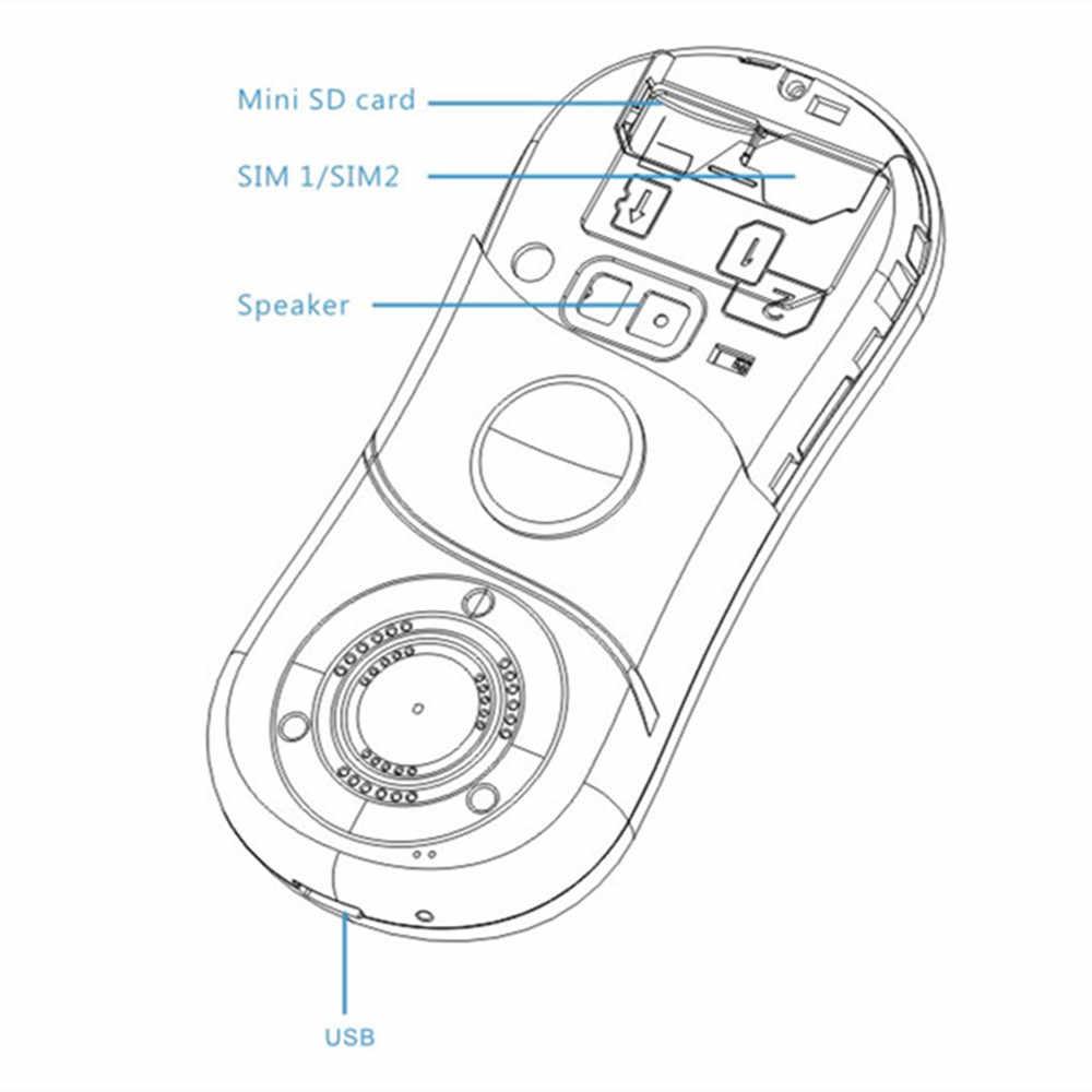 """SERVO S08 Fidget Spinner Điện Thoại Di Động 1.3 """"Dual Thẻ SIM FM Lo Âu Căng Thẳng ngón tay con quay điện thoại di động Nga bàn phím"""