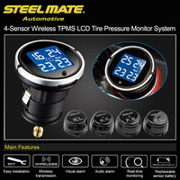 Steelmate EBAT ET 710AE TPMS Car Tire Pressure Monitor System Universal Car Alarm System Diagnostic Tool 4 sensor Wireless LCD