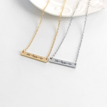 Ingenious Lovers Arrow English alphabet LOVE Letters Pendants Necklace Alloy Through Heart Short Chain Jewelry