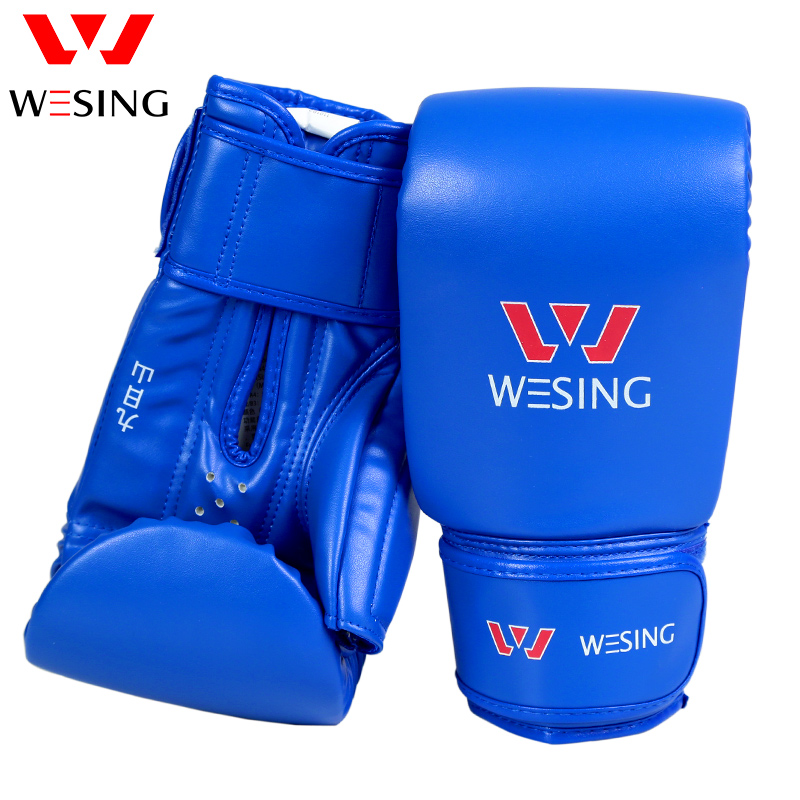 Wesing կաշվե բռնցքամարտի ձեռնոցներ guantes de boxeo GEL open thumb Fight Punch Bag MMA Muay thai Kick luva de muay thai