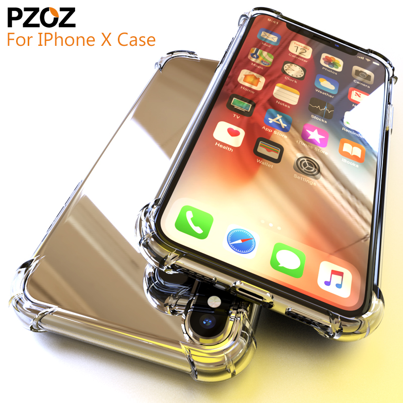Pzoz Luxury case for iphone x 10 accessories cases shockproof Back cover...