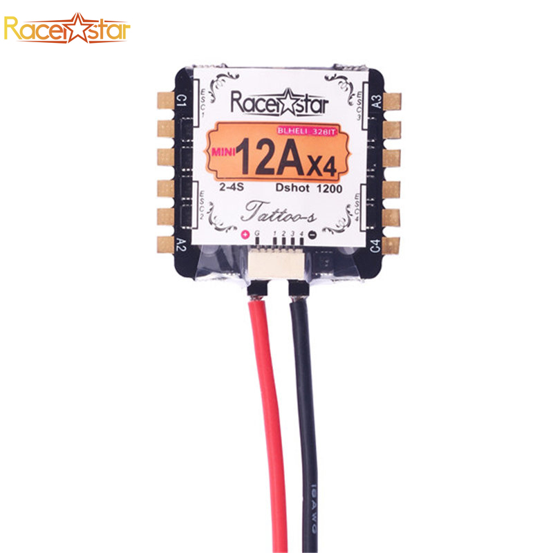 Original 20*20mm Racerstar Tattoo_S Mini 12AX4 12A STM32F051 DShot1200 Ready BLheli_32 2-4S 4 In 1 ESC For RC Multicopter Motor novatec d811sb d812sb ultra light disc brake bearing hub mtb mountain bike bicycle hubs 28 32 holes 28h 32h xc allround