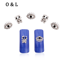 New 10pcs Hello Kitty Eyes Shape 3d Nail Art Decorations Glitter Rhinestone Jewelry Alloy Nail Studs Tools