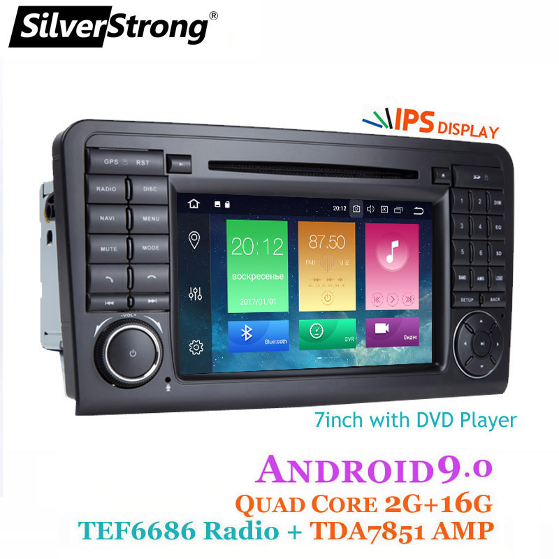 SilverStrong Android9 0 Car DVD For Mercedes Benz ML Series W164 ML GL android car dvd