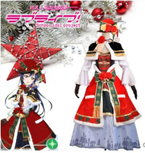 купить Anime Clothes 2019 Love Live Sonoda Umi Christmas Awaking Dress Cosplay Costume Cape halloween costumes for women A дешево