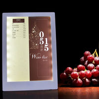 LED Menu Covers Restaurant Menu Covers 1 Views Led Menu List Folders Coffee Bar List Holders
