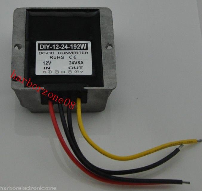 DC Converter Module power adaptor Regulator 12V(9-23V) Step up to 24V 8A 192W CE - 10PCS
