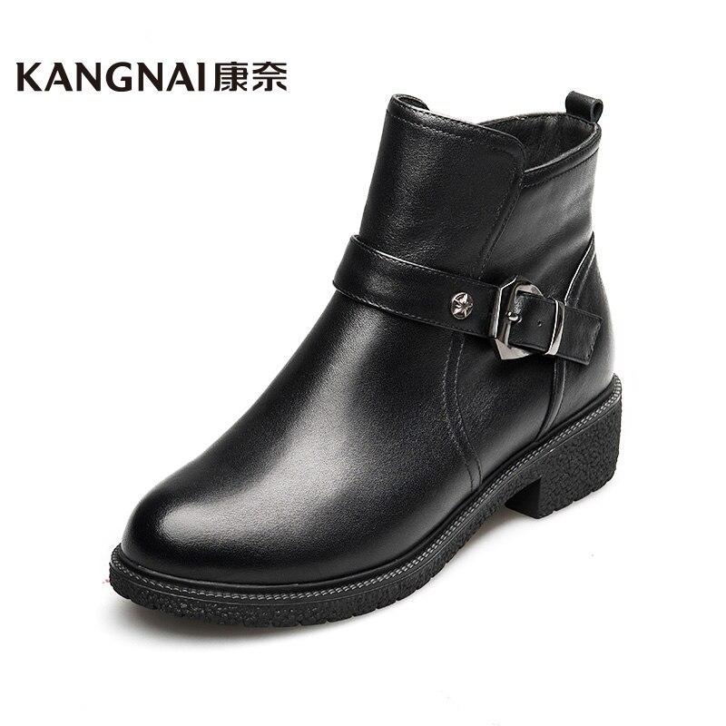 34 39 boots kangnai brand genuine leather chelsea