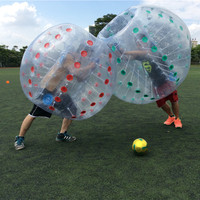 Free Shipping Good Price 1.5m Human Inflatable Bumper Ball Bubble Football Soccer Bubble Ball Body Zorb Ball 0.8mm PVC