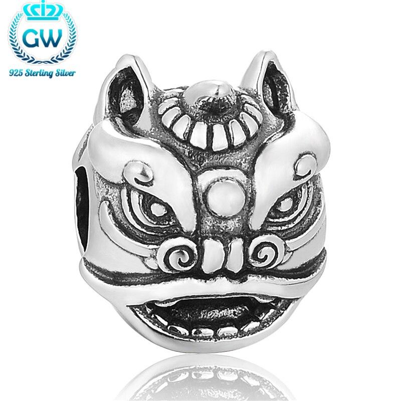 ✓Breloques en Gros danza del león chino Amuletos charm fit pulseras ...