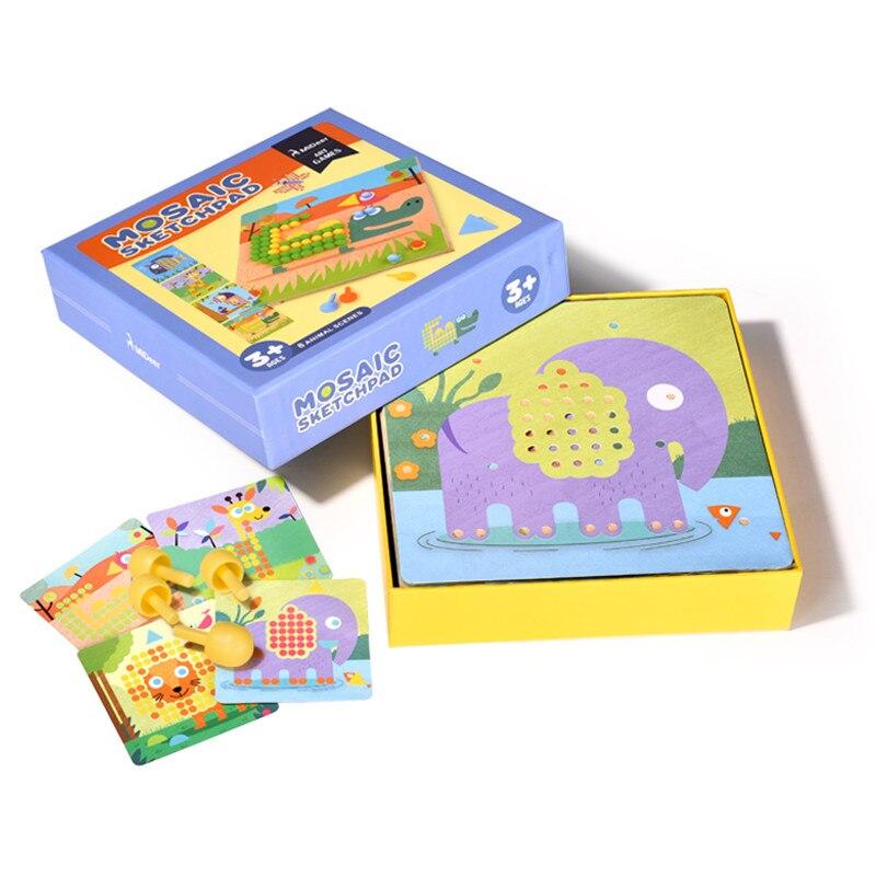 Mideer Ми олень детская Лоскутная мозаика ногтей грибы игра-головоломка детские игрушки рис Развлечения рабочего украшения подарки