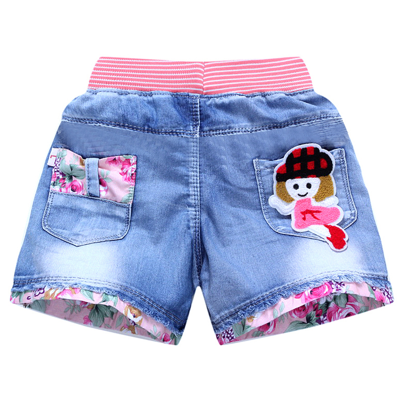 Kids Summer   Shorts   Denim   Shorts   For Girls Fashion Girls Jeans   Shorts   Princess Children Pants Girls   Shorts   Flower Girls Clothing