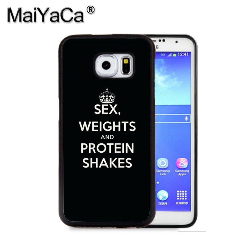 MaiYaCa SEX WEIGHTS PROTEIN SHAKES GYM Phone Case For Samsung S9 S8 Plus S7 S6 Edge Plus Note 8 7 5 S5 S4 Mobile Rubber Cases