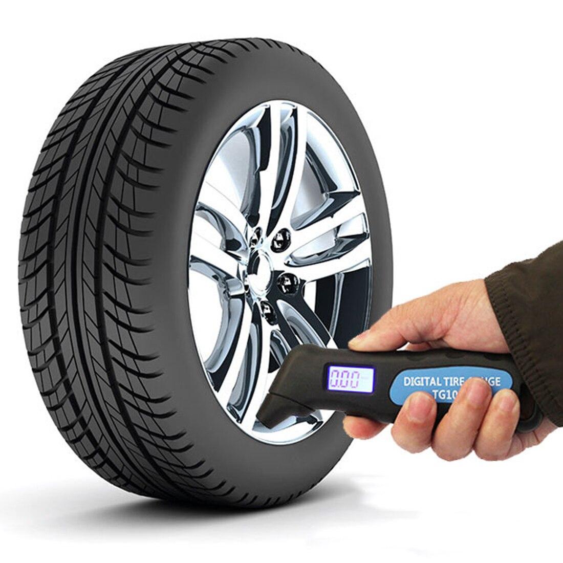 Цифровой манометр для автомобильных шин TG105 цифровой манометр барометр тестер цифровой ЖК-дисплей для автомобильных инструментов