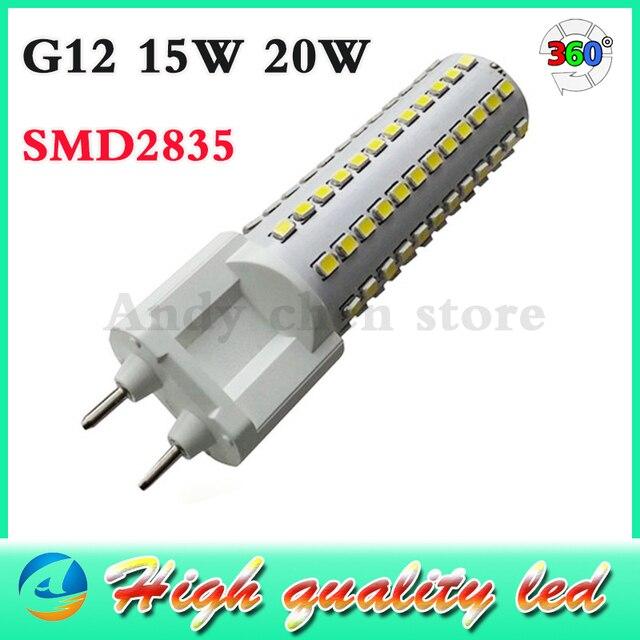 g12 lampe à led dimmable 20 w ac110 130v 220 240 v ultra lumineux