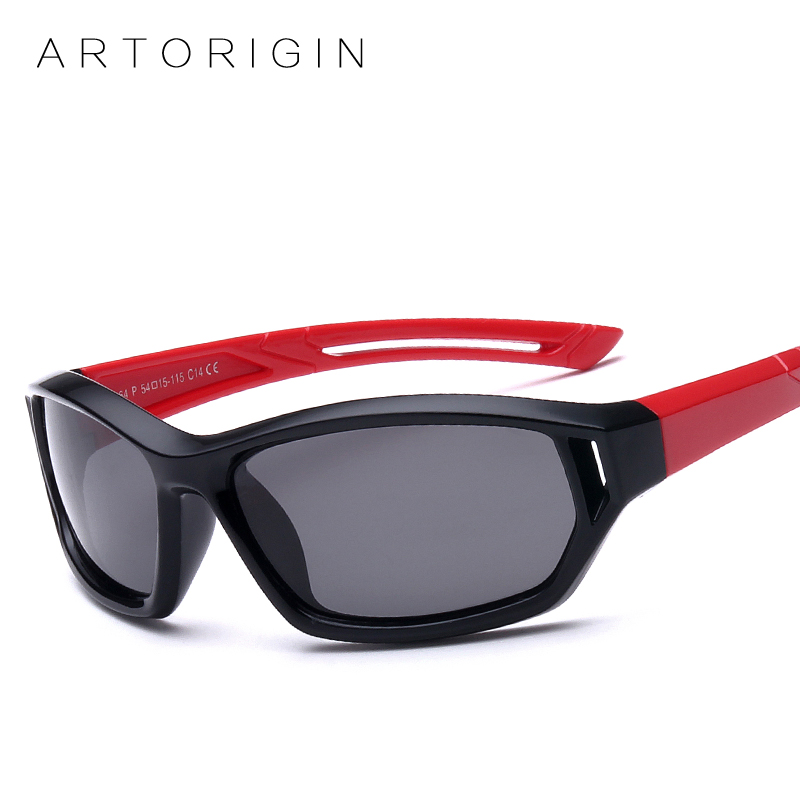 ARTORIGIN En Caoutchouc lunettes de Soleil Polarisées Enfants Bonbons Couleur Flexible Garçons Filles Soleil Verres Sûr Qualité Lunettes Oculos