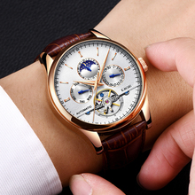 LIGE Luxury Brand Men Watches Automatic Mechanical Watch Tou