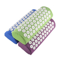 Acupressure Pillow Relieve Stress Pain Acupuncture Massager Pillow Blue Purple Green Colors To Choose 0602036