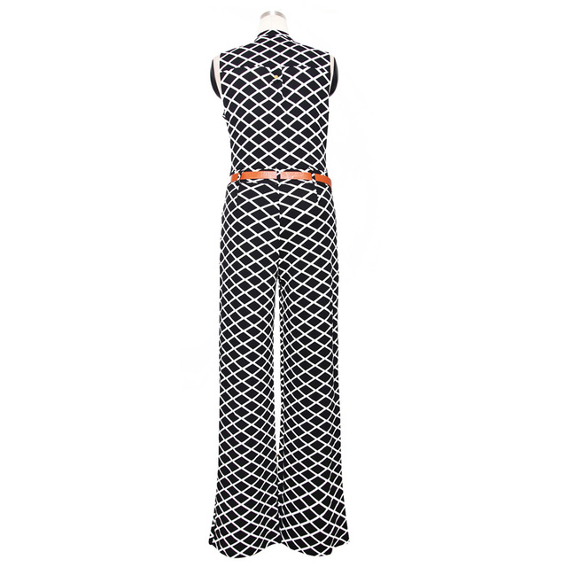 Sleeveless Formal Jumpsuits with Belt
