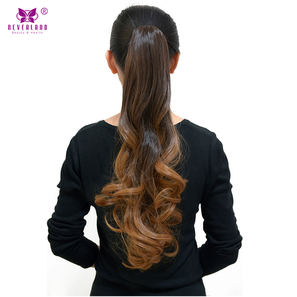 Curly Ponytail Hairpieces 20 Long Fake Ponytails Claw Drawstring Pony Neverland Wavy Claw