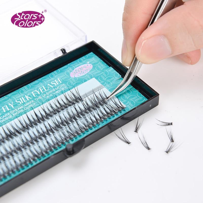 5 Boxes/lot Natural False Eyelashes High Quality Makeup Eye Lashes Encryption Silk C Curl Fake Dovetail Fly Eyelash Extension