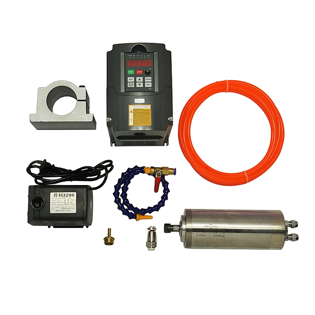 Spindle Motor CNC Router Motor ER11 Milling Spindle Kit 1.5KW Inverter VFD Woodworking Machinery Parts