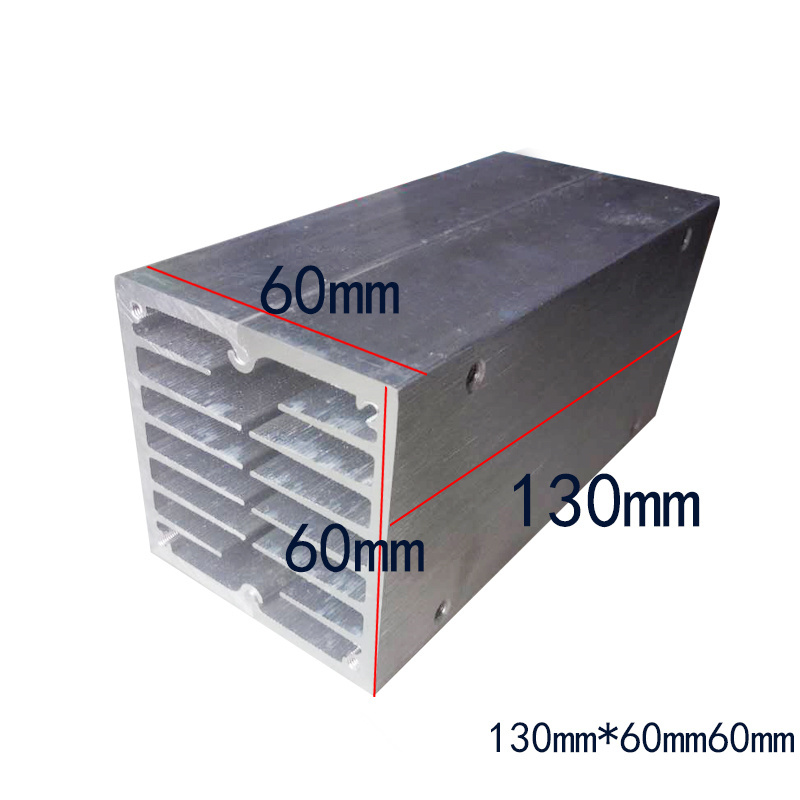 semiconductor Guide cold block heat sink 6 core aluminium block 130mm*60mm*60mm cpu radiator 130*60*60mm custom heatsink coloplast 2833 60mm