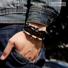 Fashion Men couple Bracelet accessories cord beads bracelet vintage ethnic style bracelet  SL-1098