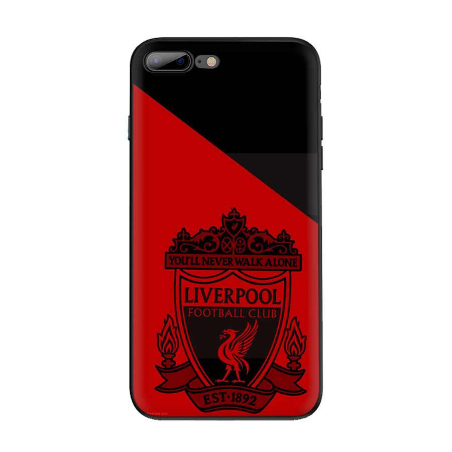 Gerleek черный мягкий Уретановый Термопластик (tpu) Ливерпуль Футбол клуб Чехол для iPhone 5 5S SE 6 6s 7 8 плюс XR X XS максимальный чехол