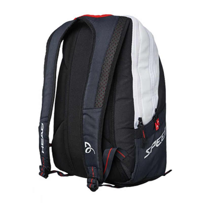 Для взрослых теннисная сумка голова 2017 Djokovic ракетка спортивная сумка тренировочный рюкзак для 2 ~ 3 шт ракетки для мужчин и женщин детская школьная сумка