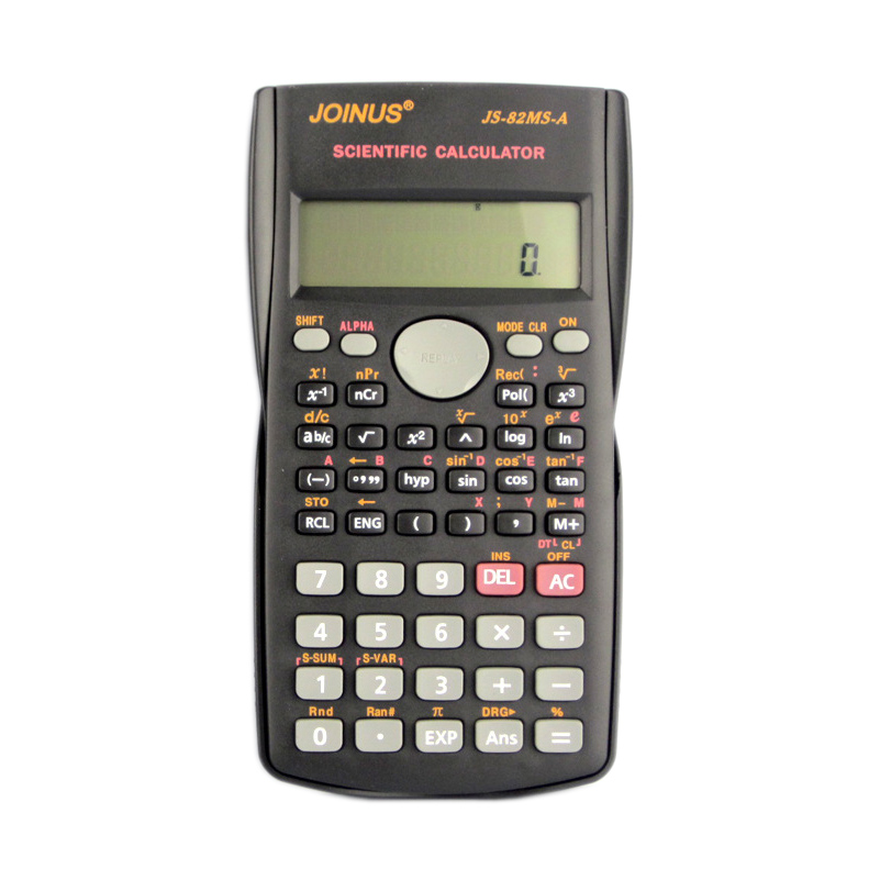 Fungsi Kalkulator Genggam Multi-fungsi 10 + 2 Paparan Digital 2-Line LCD Scientific Calculator, Penghantaran No Battery