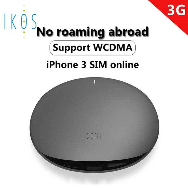 ICOS 3G Costo de roaming Doble tarjeta SIM y tres tarjetas SIM en línea para Iphone no es necesario llevar
