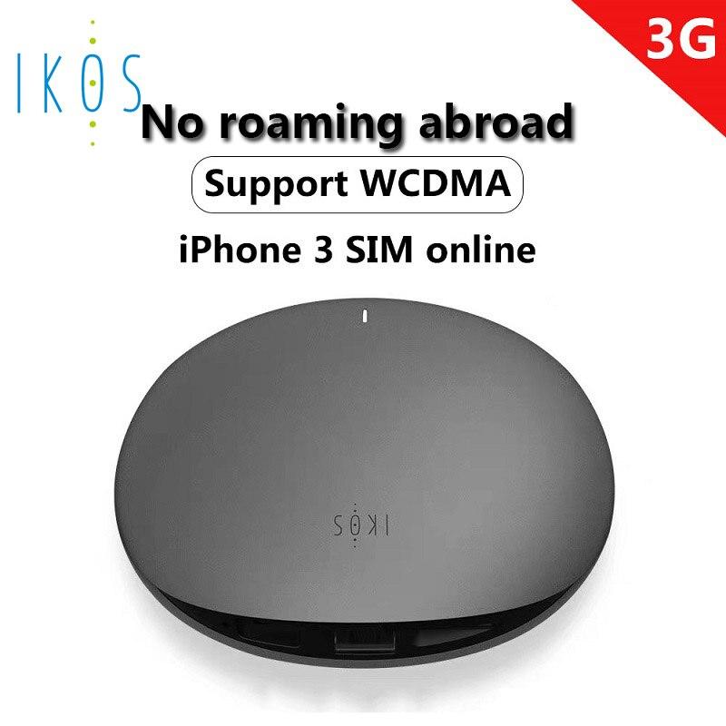 IKOS 3G coût d'itinérance gratuit double carte SIM et trois cartes SIM en ligne pour Iphone n'ont pas besoin de transporter