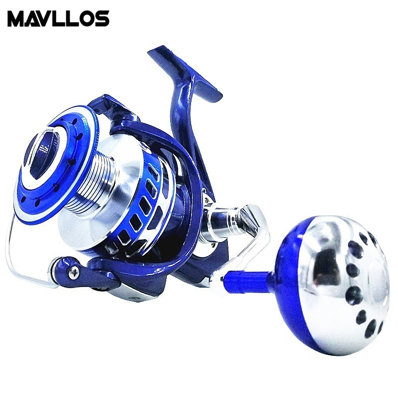 Mavllos Max Drag 30kg Slow Jigging Fishing Reel 6000 9000 Saltwater Surf Spinning Reel Sea Waterproof Jig Boat Fishing Reel Coil haibo professional saltwater spinning fishing reel 5000 6000 7000 8000 9000 7bb 4 9 1 surf casting reel trolling jigging wheel