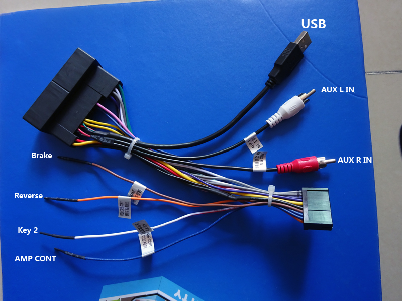 Hotaudio ha xxx stereo wiring harness adaptor power cable for iso