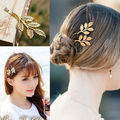 Hot New Fresh Wind Latest European And American Retro Stereo Leaves Little Hair Clips Wholesale Side