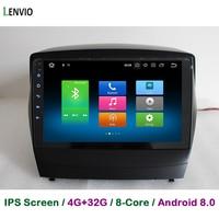 Lenvio 4G RAM 32G ROM Octa Core Android 8.0 CAR DVD GPS Player For Hyundai IX 35 IX35 2009 2010 2011 2015 Radio DAB 3G WIFI IPS
