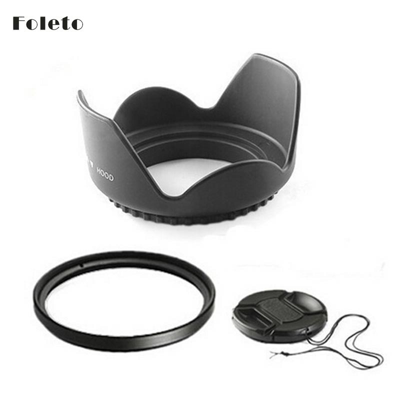 58mm 58 mm Flower Lens Hood +UV Filter +Lens Cap for Canon EOS 400D - Camera and Photo