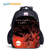 LUOBIWANG Twenty One The Pilots Children Schoolbag for Teenager Boys and Girls Famous Band Printed Backpack Children Book Bag недорого